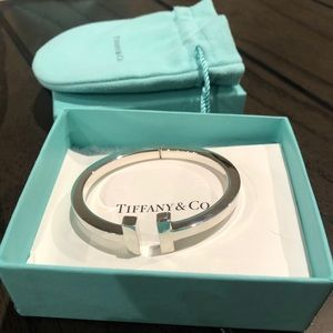 Tiffany & Co. Jewelry - Tiffany & Co. Sterling Silver T Bracelet